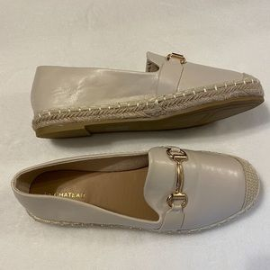 Faux Leather Espadrille Loafer   LE CHÂTEAU Size 8